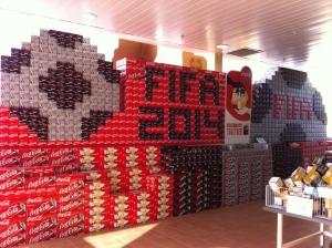 Cola WM Display oder wie das hier heißt FIFA 2014